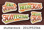 vector set for fall season ... | Shutterstock .eps vector #2012952566