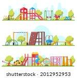 kids outdoor fun recreation... | Shutterstock .eps vector #2012952953