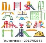 children swings  ladders  slide ... | Shutterstock .eps vector #2012952956