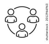 collaboration vector icon....   Shutterstock .eps vector #2012966963