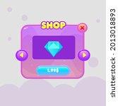 game ui pop up window pink...