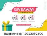giveaway social media contest...   Shutterstock .eps vector #2013092600