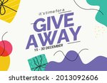 giveaway social media contest...   Shutterstock .eps vector #2013092606