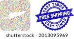 vector mosaic east timor map of ... | Shutterstock .eps vector #2013095969