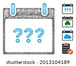 mesh unknown day calendar page...   Shutterstock .eps vector #2013104189