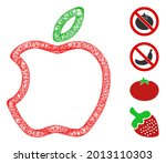 mesh contour apple web icon...   Shutterstock .eps vector #2013110303