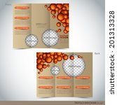 tri folder brochure   leaflet... | Shutterstock .eps vector #201313328