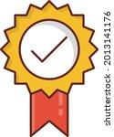badge vector flat color icon
