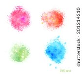 vector watercolor design... | Shutterstock .eps vector #201314210