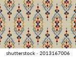 ikat ethnic design background.... | Shutterstock .eps vector #2013167006