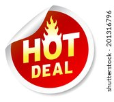 hot deal round  red price... | Shutterstock . vector #201316796