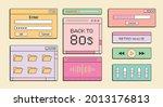 set of music ui elements  audio ...