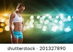 sport woman in shorts and top... | Shutterstock . vector #201327890