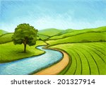 landscape in summer | Shutterstock .eps vector #201327914