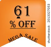 61  off on a orange balloon for ... | Shutterstock .eps vector #2013327053