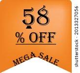 58  off on a orange balloon for ... | Shutterstock .eps vector #2013327056