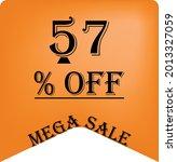57  off on a orange balloon for ... | Shutterstock .eps vector #2013327059