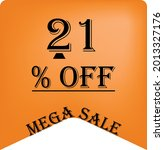 21  off on a orange balloon for ... | Shutterstock .eps vector #2013327176