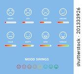 mood swings concept  vector... | Shutterstock .eps vector #201333926