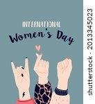 girl power  feminism and... | Shutterstock .eps vector #2013345023