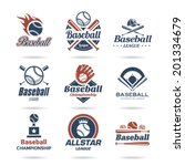 baseball icon set   3 | Shutterstock .eps vector #201334679