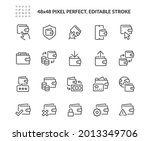simple set of wallet related... | Shutterstock .eps vector #2013349706