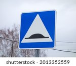 Noticeable Steel Road Blue Sign ...