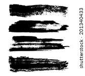 set of grunge brush strokes.... | Shutterstock . vector #201340433