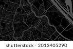 dark black vienna city area... | Shutterstock .eps vector #2013405290
