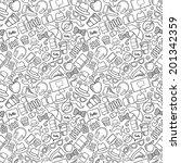 doodle hipster stuff seamless... | Shutterstock .eps vector #201342359