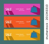flat style sale banners.