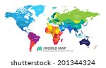 world map | Shutterstock .eps vector #201344324