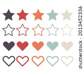 set heart and star icon. vector ...