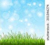 spring grass | Shutterstock .eps vector #201346274