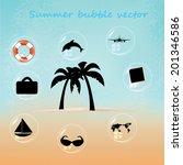 beautiful blue beach vector... | Shutterstock .eps vector #201346586