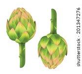 fresh artichoke isolated on... | Shutterstock .eps vector #201347276
