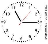 clock face vector | Shutterstock .eps vector #201351563