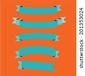 ribbon set flat design | Shutterstock .eps vector #201353024