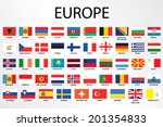 alphabetical country flags for... | Shutterstock .eps vector #201354833