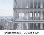 a corner of modern corporate...   Shutterstock . vector #201355424
