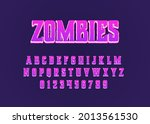 zombies cartoon movie style...   Shutterstock .eps vector #2013561530