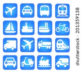 transportation icons logistic... | Shutterstock . vector #201359138