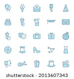 party line vector icons in two...