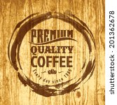 coffee label for cafe in blotch ... | Shutterstock .eps vector #201362678
