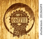 coffee label for cafe in blotch ... | Shutterstock .eps vector #201362693