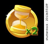 golden hourglass icon  doubling ...