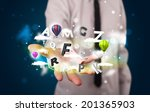 young business man in suit...   Shutterstock . vector #201365903