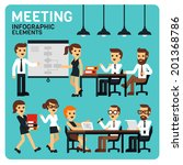 meeting people infographic... | Shutterstock .eps vector #201368786
