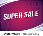 super sale word concept vector...