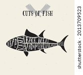 meat cuts   fish. diagrams for...   Shutterstock .eps vector #2013709523